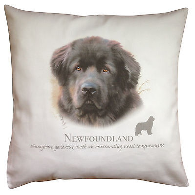 Newfoundland Breed of Dog Cotton Cushion Cover with Story - Perfect Gift