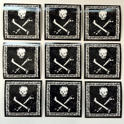 """Rancid - 9 stickers from """"Rancid"""" 2000 on Hellcat. Official promo stickers 3x3"""""""