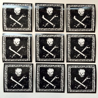 "Rancid - 9 stickers from ""Rancid"" 2000 on Hellcat. Official promo stickers 3x3"""