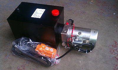 Singe Acting DC Hydraulic Power Unit Pack, w/ Remote Dump Tipper 2950 psi