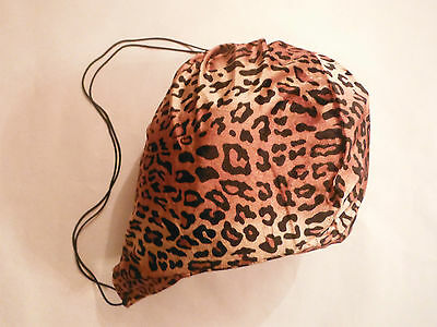 Leopard Cheetah Animal Print Pattern Helmet Bag Tote Storage Cover