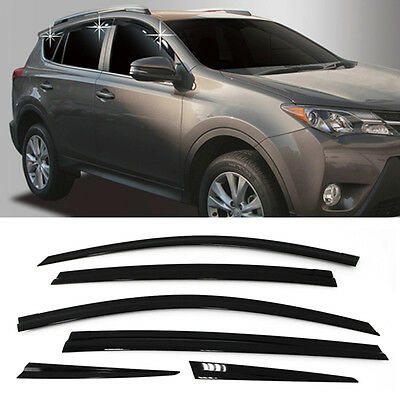 Smoke Window Sun Vent Visor Rain Guards 6Pcs D754 For TOYOTA 2013 - 2018 RAV4