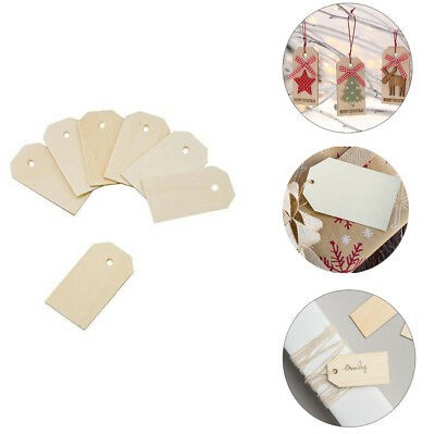 50PCS NATURAL WOOD Gift Tags Wine Bottle Tags Arts Crafts