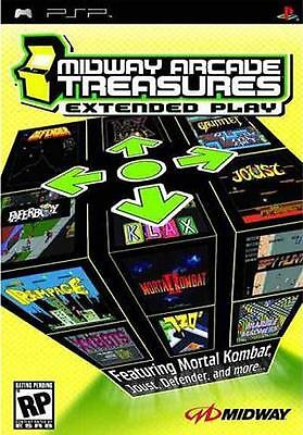 MIDWAY ARCADE TREASURES EXTENDED PLAY SONY PSP REGION-FREE GAME NEW SEALED BOX