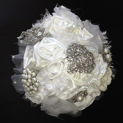 Hand Made Bridal Brooch Bouquet with Presentation Box