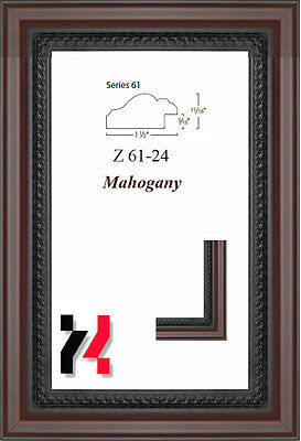 """Picture Frame Mahogany 1 1/2"""" Wide Solid Wood Different Sizes to choice from"""