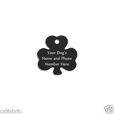 Black Shamrock Free Custom Engraved Dog Tag Cat Tag Pet ID Name Tags Plus