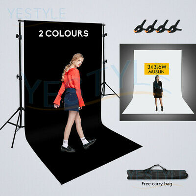 3x3.6m Photography Green Backdrop Background Wall Screen Tripod Stand Support