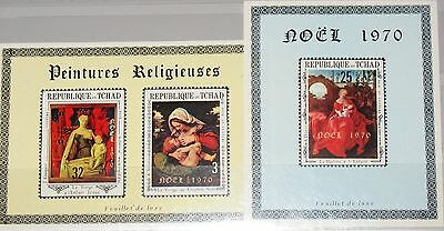 CHAD TSCHAD 1970 318-20 227G-I DELUXE Christmas Weihnachten Paintings Art MNH