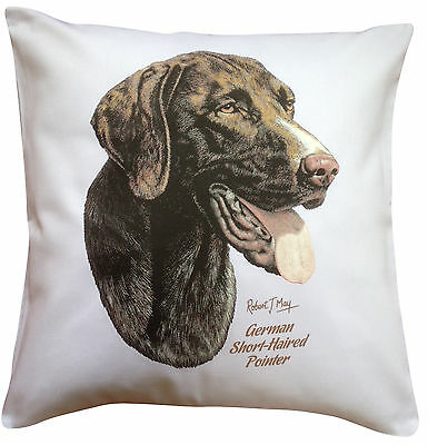 German Shorthaired Pointer  RM Breed of Dog Themed Cotton Cushion Cover
