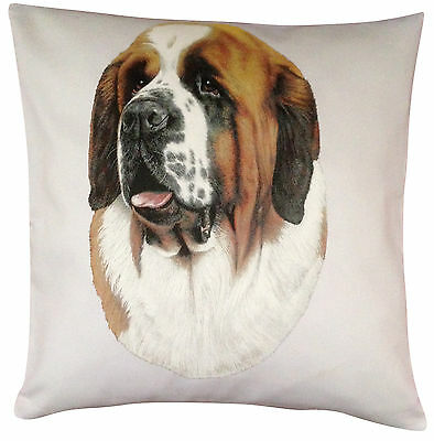 Saint Bernard  RM Breed of Dog Themed Cotton Cushion Cover - Perfect Gift