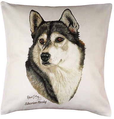 Siberian Husky RM Breed of Dog Themed Cotton Cushion Cover - Perfect Gift