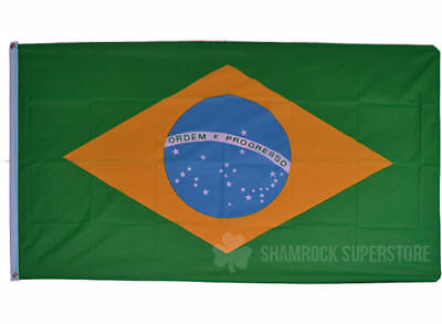 World Country Flags & Bunting - 9m & 5 x 3 FT - Brazil Spain USA England France