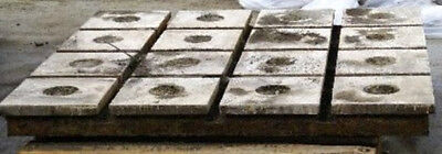 """58-1/2"""" x 58-1/2"""" x 5"""" T-SLOTTED FLOOR PLATES, CAST IRON"""