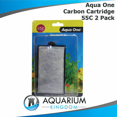 25055C Aqua One Carbon Cartridge 55C 2pk for ClearView 280 Hang on Filter Media