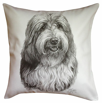 Bearded Collie MS Breed of Dog Themed Cotton Cushion Cover - Perfect Gift