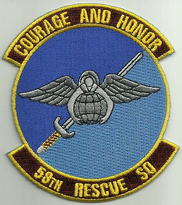 USAF United States Air Force 58th Rescue Squadron Military Patch COURAGE & HONOR