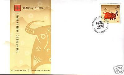 Canada 2009 Year of the Ox Stamp (#2296) First Day Cover !