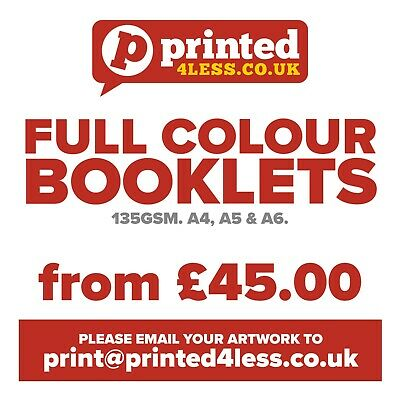 Brochures Booklets Magazines Printed Full Colour Menus Price Lists Fold 130 135
