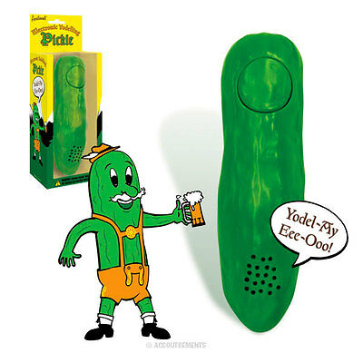 Yodelling Pickle Yodel Cucumber Yodeling Electronic Yodel-AY-Eee-Ohh! Gag Gift
