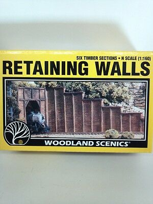 Woodland Scenics Retaining Walls TIMBER N Scale #1160 C1160 Model Railroad