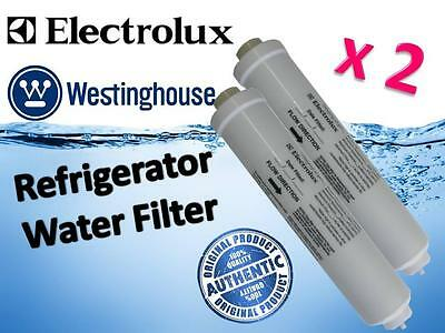 2 x GENUINE WESTINGHOUSE ELECTROLUX REFRIGERATOR WATER FILTER PART # 1450970