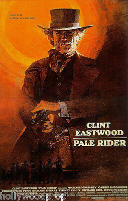 CLINT EASTWOOD PALE RIDER WESTERN GUNFIGHTER COWBOY MOVIE POSTER PRINT REPRINT