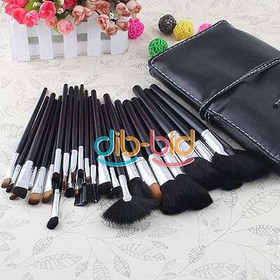 New 32 Pcs Pro Makeup Cosmetic Hot Eyebrow Shadow Brushes Set with Case