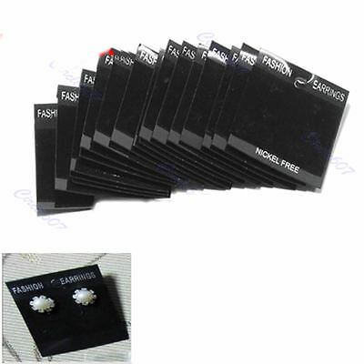 20 / 100x Hot Sale Paper Jewelry Earring Display Tags Hanging Holder Cards Black