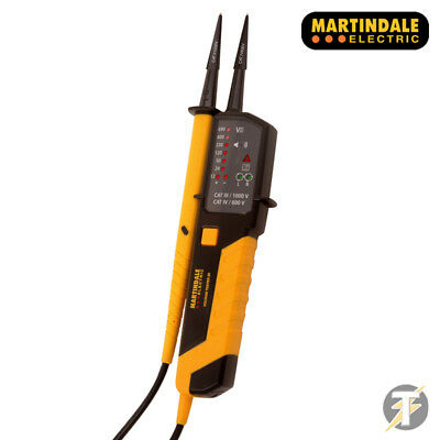 Martindale VT25 (MARVT25) Two Pole LED Voltage & Continuity Indicator / Tester