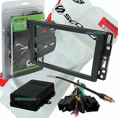 CHEVROLET CAR STEREO DOUBLE/2/D-DIN RADIO INSTALL DASH KIT COMBO GM1598AB