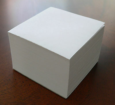 """Blank Note Paper Cubes - 2 for the price of 1 - Padded on 1 side """"GREAT GIFT"""""""