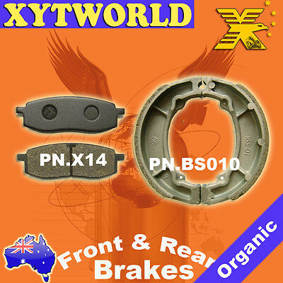FRONT REAR Brake Pads Shoes for Yamaha TT 250 1986-1992