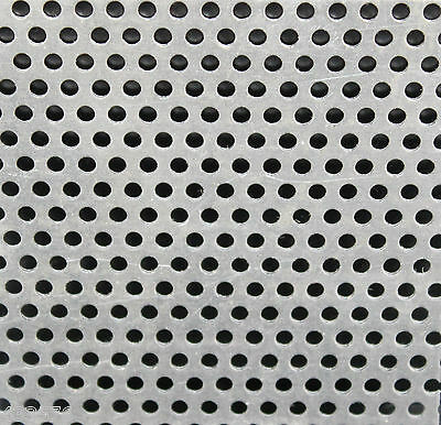 1.0 304 Perforated Stainless Steel Sheet  - 3 mm Holes 5 mm Pitch  x 9 Sizes
