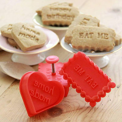 Cookie Cutters -Biscuit Cutter/Stamp Owl, Home Made & Eat Me - Baking Gift Idea