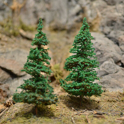 "MOOSE CREEK TREES - Fir Pine Trees (20 pc x 3"" Tall) Conifer Green HO N Z Scales"