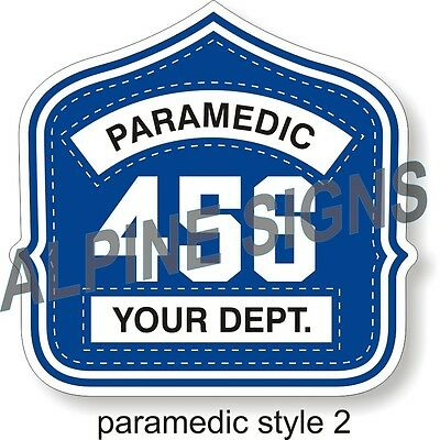 "Fire Paramedic Helmet Shield sticker - Style 2 - Custom just for You! 4.2""x4"""