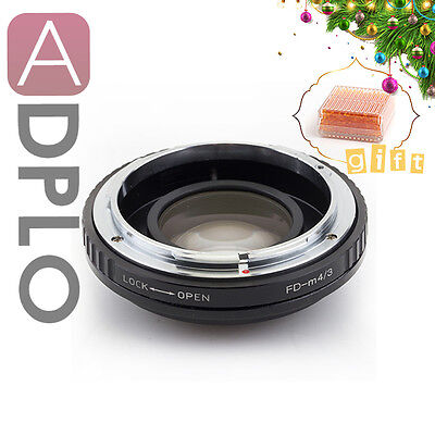 Gift Optical Focal Reducer Speed Booster adapter Canon FD Lens to Micro 4/3 GH4