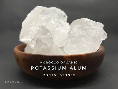 Alum Stones & Crystals - Natural - Antiseptic-Soothes Shaving Cuts -Irritation