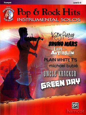Pop & Rock Hits Instrumental Solos Trumpet Sheet Music Book with Play-Along CD