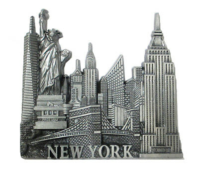 New York City Souvenir Fridge Magnet, NYC Souvenir Metal Magnet