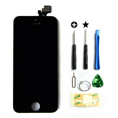 New LCD Lens Touch Screen Display Glass Assembly Replacement for iPhone 5 Black