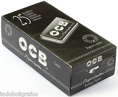 OCB Premium Black DOUBLE Rolling paper - 2500 papers, Ocb doble nº4. New.