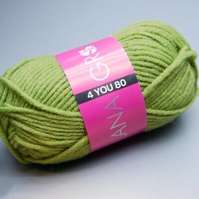 Lana Grossa 4 YOU 80 - 810 turtle green 50g Wolle (3.90 EUR pro 100 g)