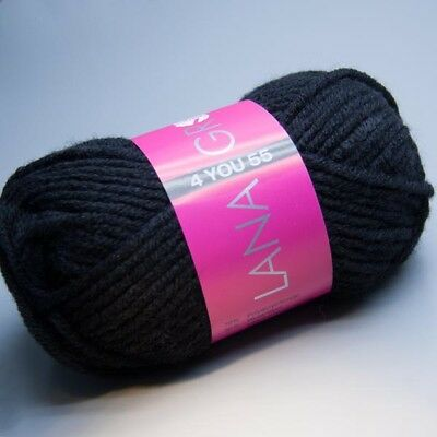 Lana Grossa 4 YOU 55 -  507 nero 50g Wolle (3.90 EUR pro 100 g)
