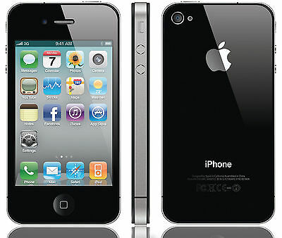Verizon iPhone 4 16GB Apple Smartphone Black Clean Esn