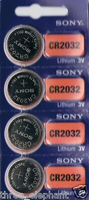 4 New SONY CR2032 CR 2032 Lithium 3v Coin Battery Australia Stock Fast Shipping