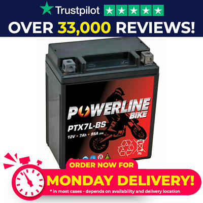 Powerline YTX7L-BS YTX7LBS Motorcycle Battery Honda CB 600 F Hornet 98-06