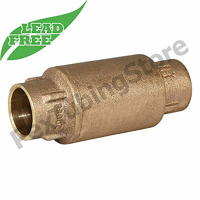 """3/4"""" Sweat In-Line Brass Spring Check Valve, LEAD-FREE"""