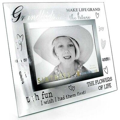 """Grandkids Moments Glass Picture Photo Frame gift 6""""x4"""" 3-276-64"""